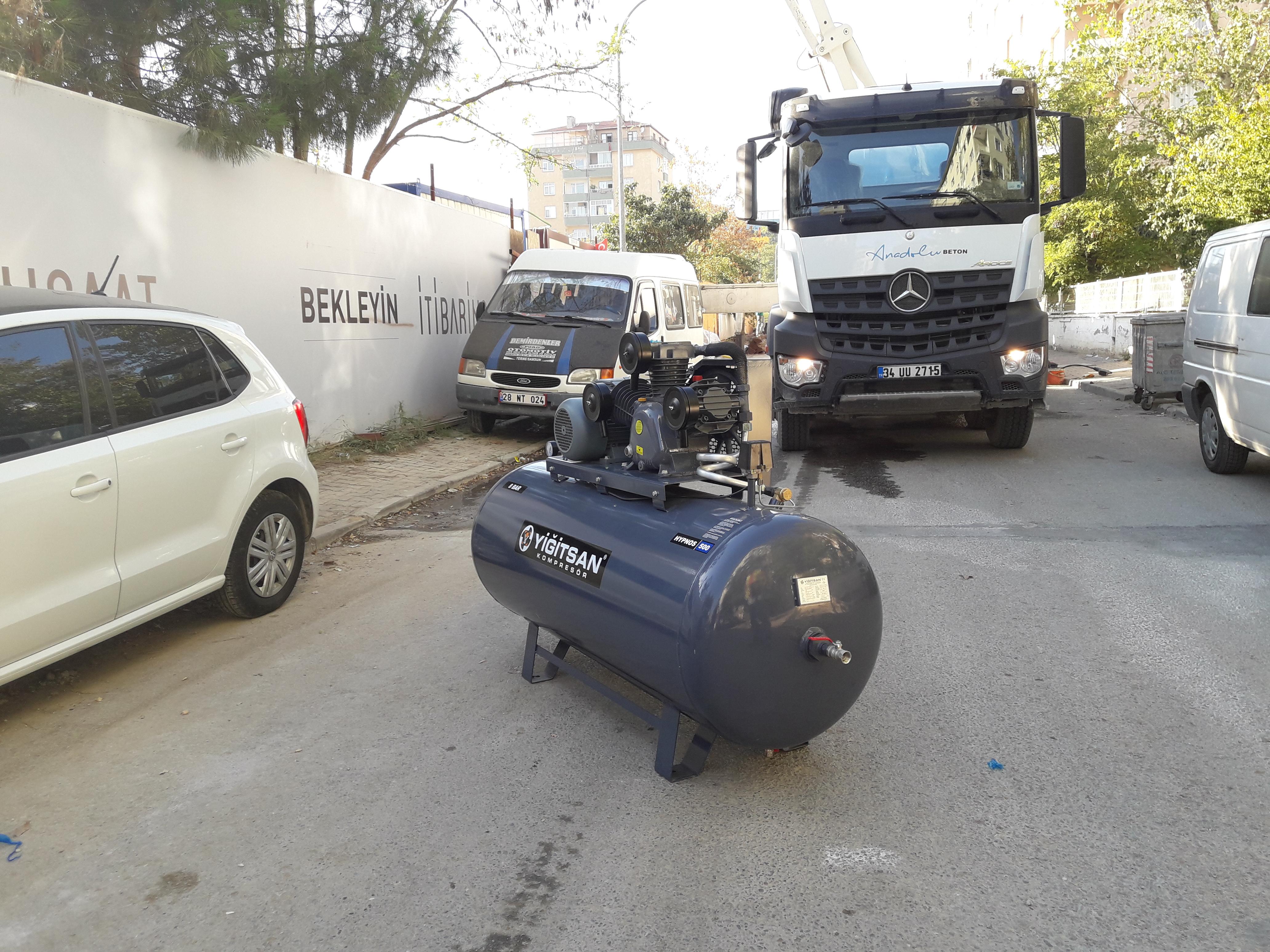 OMEGA Kompresör - 500 LİTRE TESLİMAT