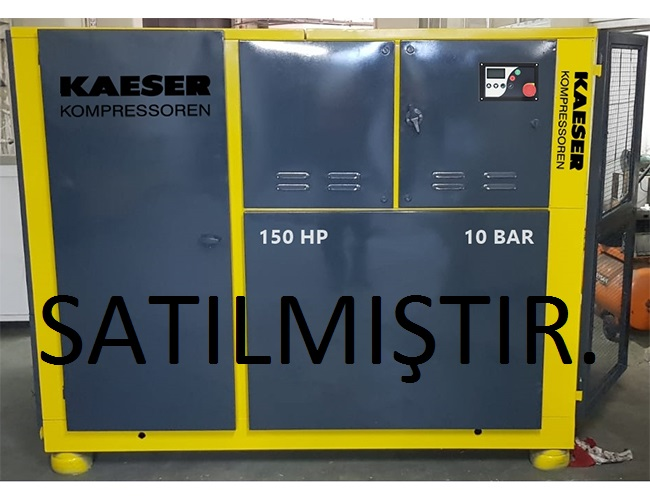 110 KW - 150 HP Alman Malı Kaeser Kompresör, 10 Bar