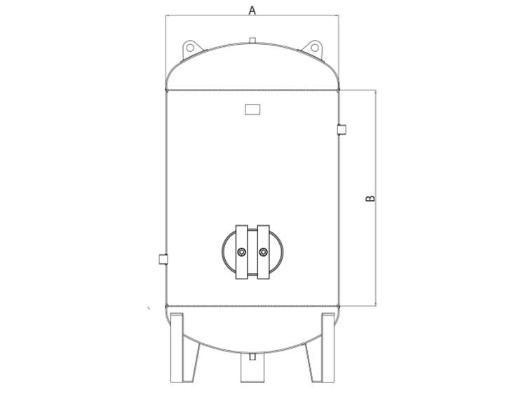 OMEGA Kompresör - Dikey Hava Tankı