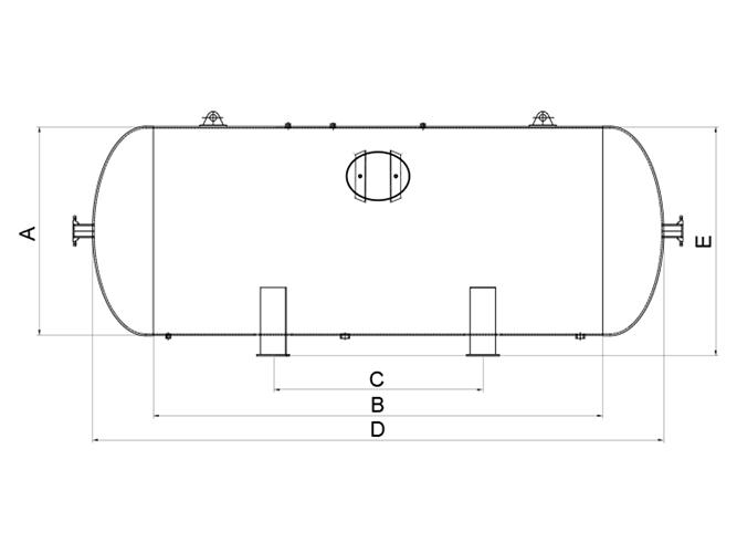 OMEGA Kompresör - Yatay Hava Tankı
